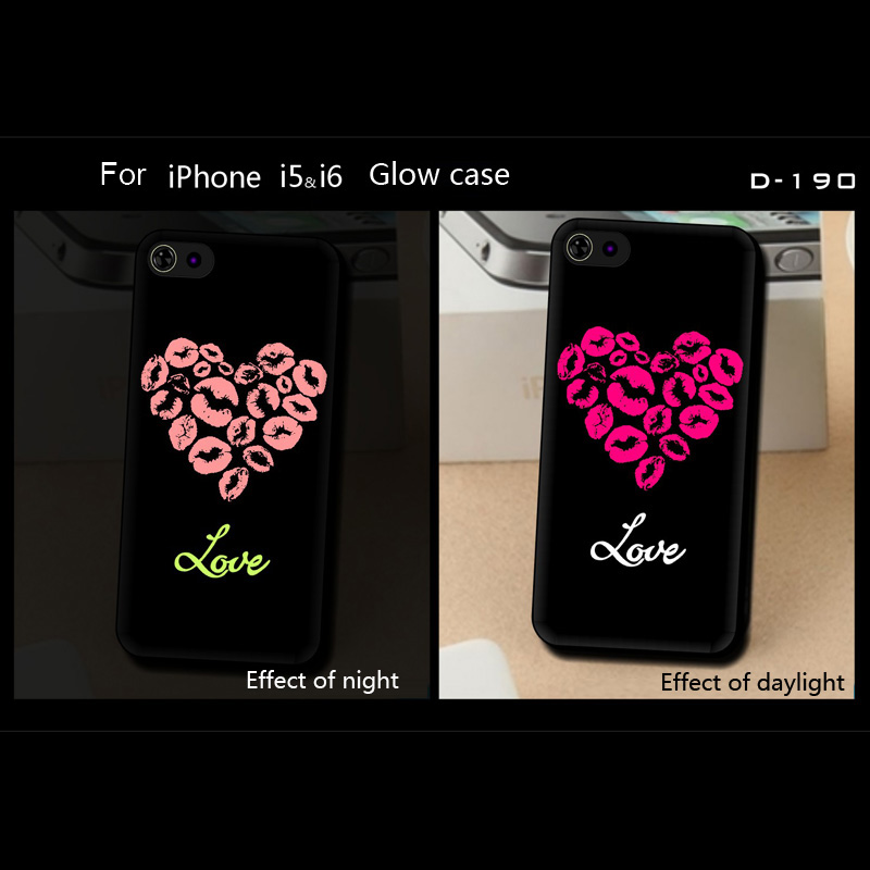 Noctilucent tpu cheap mobile phone case for iphone 5, cute love design case for iphone 5