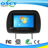 Black LCD Car Rear Monitors 7 Inch Car Rear View Mirror Monitor