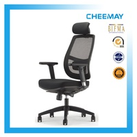 Sychron tilting office chair with armrests and nylon base