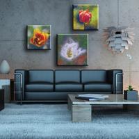 Beautiful handmade flower pictures for fabric house painting designs