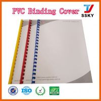 Durable different colors clear transparent sheets school exercise book with pvc cover