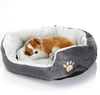 Cute Paw Logo Comfortable Pets Dog Cats Puppy Kitten Nest Pad Soft Fleece Bed