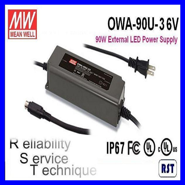 Meanwell OWA-90U-36V 90W 36V 2.5A Single Output with PFC function Moistureproof Adaptor LED Switching Power Supply