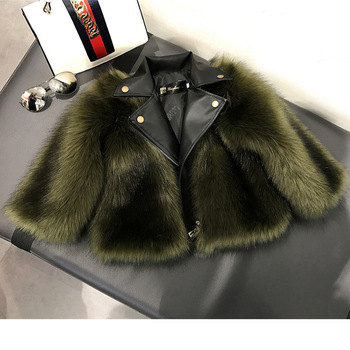 new arrival latest coat design for girl's winter wear vintage faux fur coat