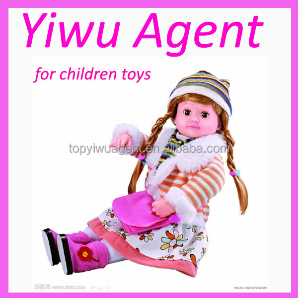 Baby dolls purchasing agent in yiwu stock market