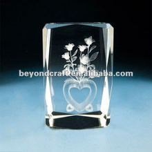 3d laser crystal wedding souvenirs