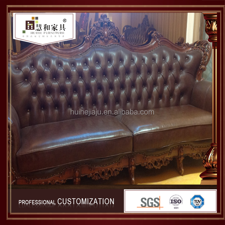 Custom Factory Wholesale Chesterfield Sofa Retro Vintage Furniture Sofaset