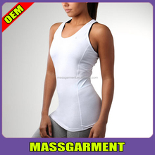 White Womens Yoga Gym Fitness Stretch Sports Tank Tops 2017