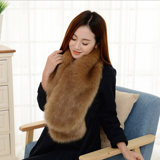new 2015 fashion thickening imitation fox fur scarf warm winter, fashion high density, long paragraph scarf free shipping