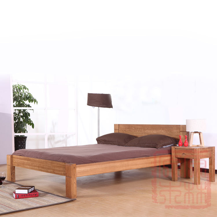Buy Muji White Oak Solid Wood Bed Modern Minimalist Japanese Style Double  Bed Wood Bedroom Furniture 1.5 M 1.8 M In Cheap Price On Alibaba.com