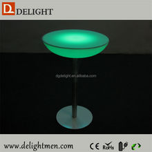 Plastic battery power night club lighting illuminated led table/ led tv table/ led leisure hotel mini bar