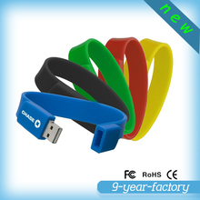 Free sample high speed silicone bracelet pen drives