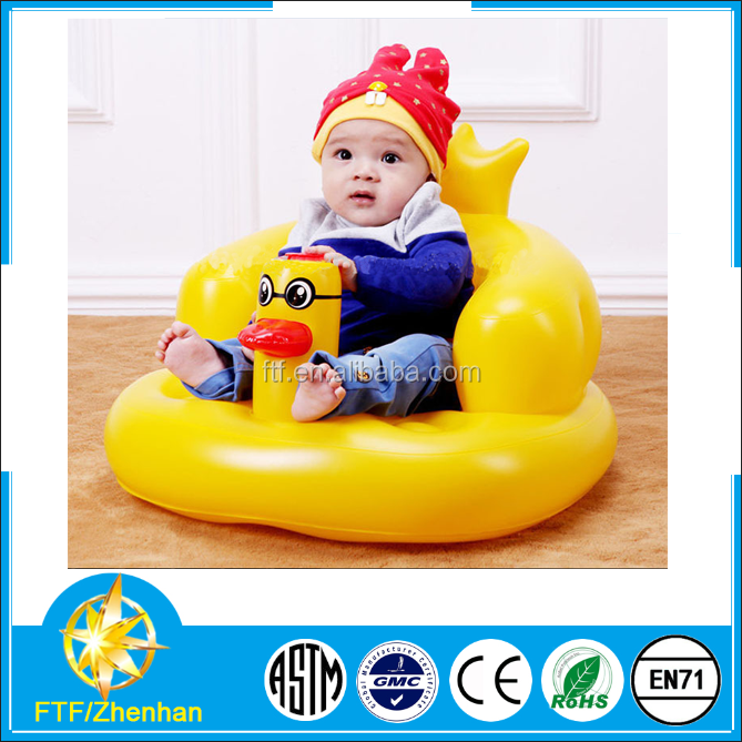 2015 Most Popular Hot Quality Cheap Self Inflating Music Inflatable Baby Seat/Bath Chair