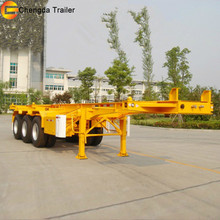 Chengda Trailer with 12 Years Experiences Trailer Dimensions and Truck Prices 40 Feet 3 Axles Container Flat Semi-trailer