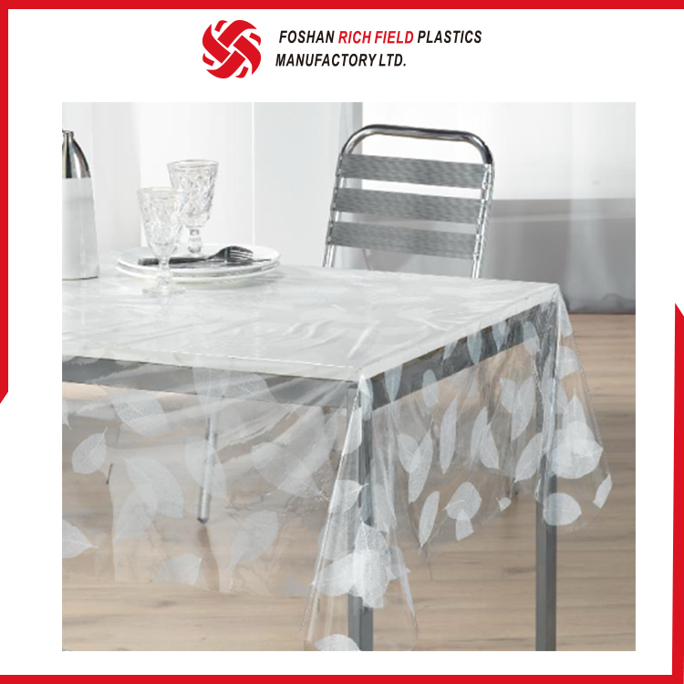 Accept Custom Order PVC Clear Restaurant Table Linen