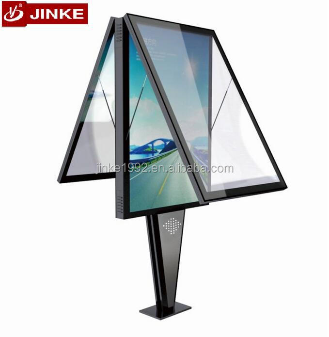 JINKE innovative design manufacturer two sides scrolling light box with remote control