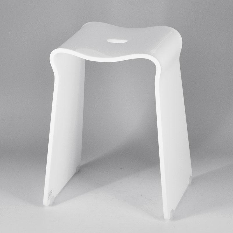 Forma quadrata design semplice bianca bagno sgabello di plastica sgabelli e ottomani id prodotto - Sgabelli in plastica per bagno ...