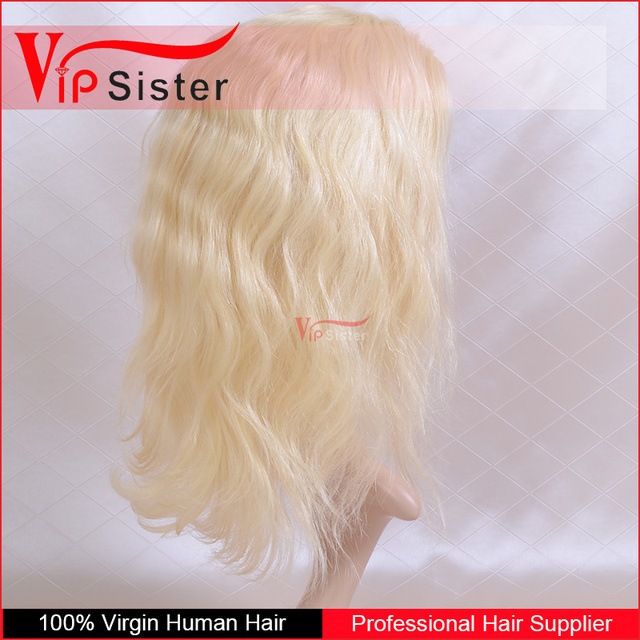 no acid real human front lace hair wig natural color 100 handmade wholesale blonde 9a lace top hair wig
