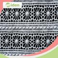 Cotton fabric for sweatshirts chemical lace embroidery fabric breathable lace fabric