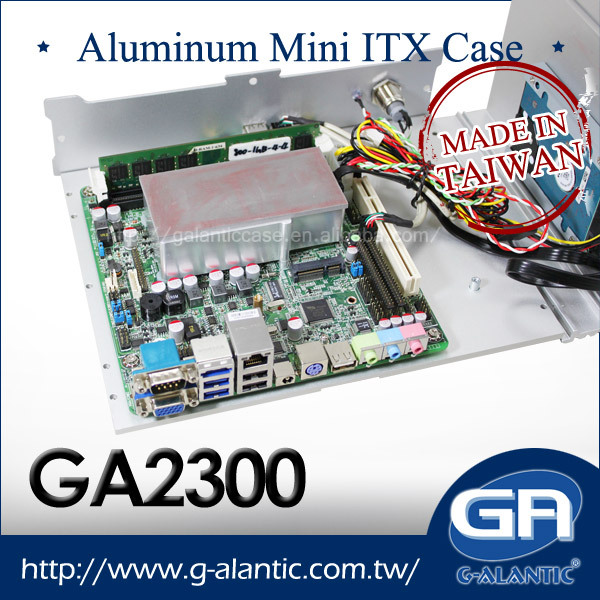 GA2300 - Fully Aluminum Fanless Mini ITX Computer Case embedded industrial computer