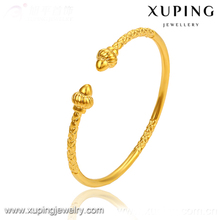 51217 xuping fine jewelry 24 karat gold plated classical bangle for girls