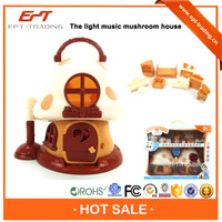 Hot sale electronic plastic mini mushroom house toy for sale