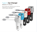 33W on-board Quick charge 3.0+3A Type-c car charger with 1M USB-C cable Controller IC for iPhone, iPad, Galaxy S7/S6/Edge/Plus