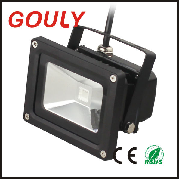 waterproof rgb led outdoor flood light 12v , 12V RGB 10W LED Floodlight waterproof , 85-265V 10W LED Flood Light