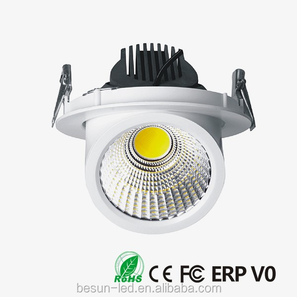COB LED gimbal 90 degree down light 80Ra high quality led indoor lights