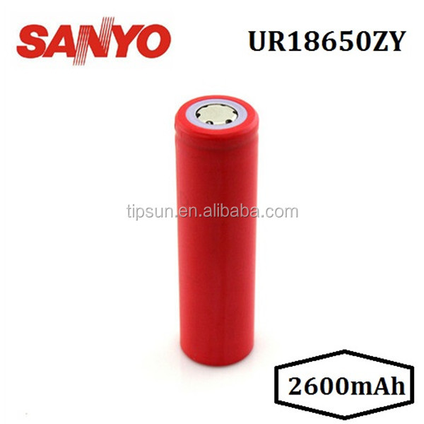 Original Sanyo UR18650ZY 2600mAh Li-ion Rechargeable Battery SANYO 18650 battery