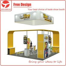 Yota offer Go Tire, 20x20' trade show stand island