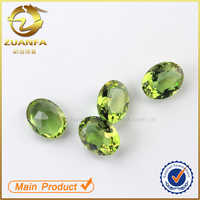 beautiful color change gemstone machine cut oval glass gems in Wuzhou