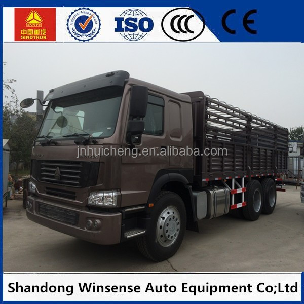 2017 new howo 30ft cargo truck with stick plate