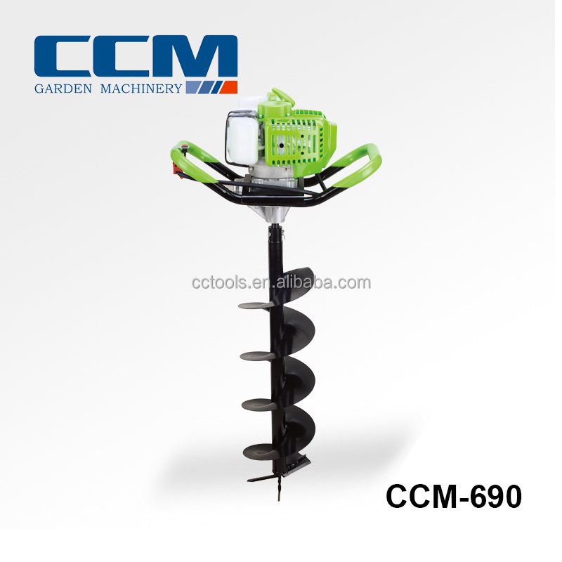 52cc gasoline power earth auger with 100mm,150mm,200mm,300mm drills