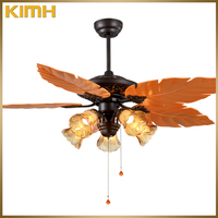 52 inch hot sell decorated ceiling fan lamps with pull chain switch