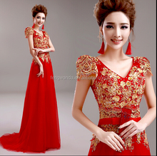 2015 New top red christmas wedding dresses