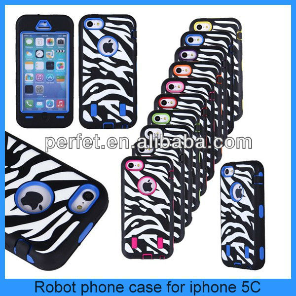 For iphone 5c silicone+plastic hybird case iphone 5c back cover