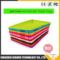 New Soft Silicone Cover Case for 7'' 7 inch Android Capacitive Q88 Allwinner MID Kids Study Tablet PC Multi-color
