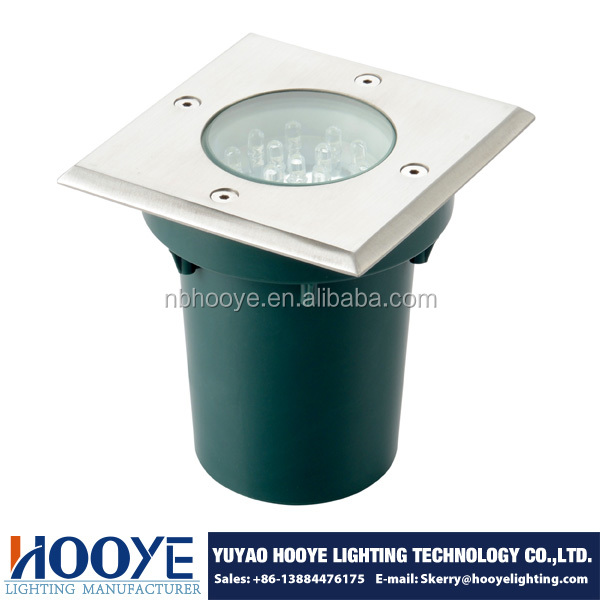 230V IP67 Square LED Park Light LED Inground Light LED Recessed Garden Light