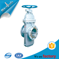 Manual stainless steel double disc flat plate gate valve