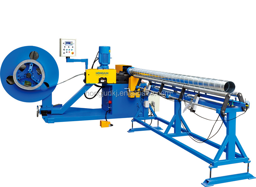 HJTF1500F Spiral tube forming machine with roll shear cutting for steel strip