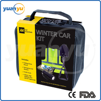 Small Order Free Logo YY-073 Black Winter Car Emergency Road Assistance Kit