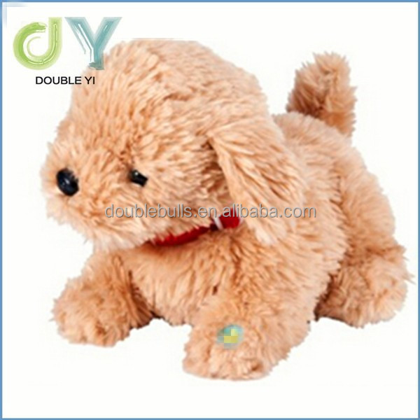 Cute mini electric music barking battery operated walking singing plush dog toy