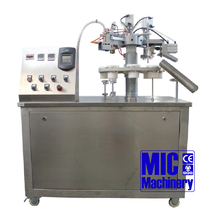 MIC-R30 semi automatic paste plastic and laminated tube filling and sealing machine speed at 30 tubes/min
