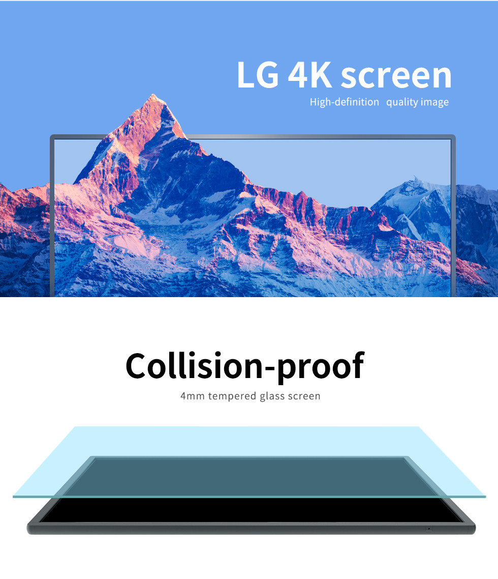 55''  Ultra HD smart TV 4K led touch screen monitor display panel touch screen