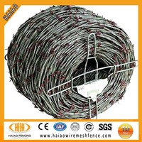 ISO factory cheap barbed wire price per roll