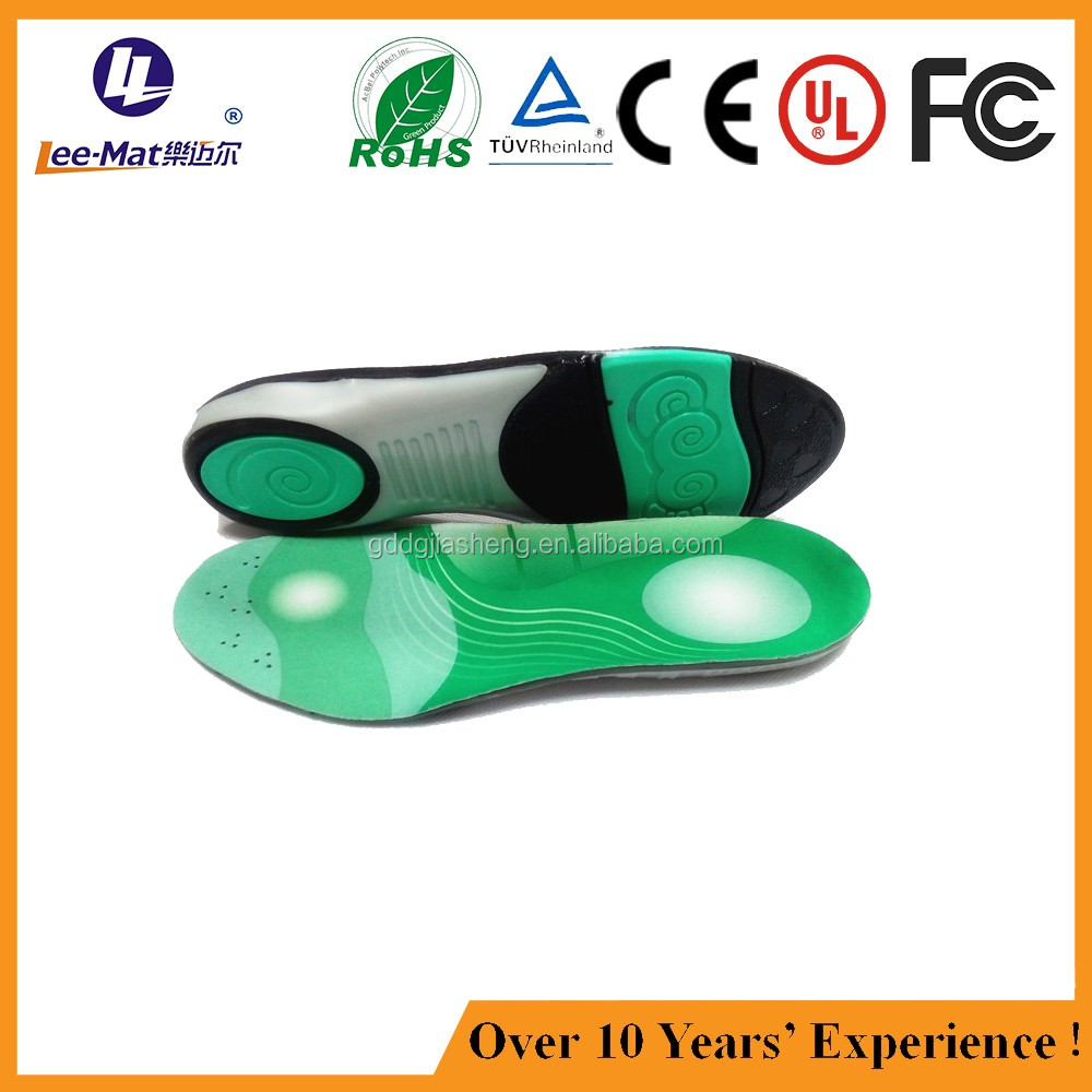 extremely breathable arch support foot orthotic shoe inserts with sublimated graphics