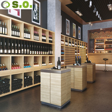 Hot sale modern luxury wine display showcase for wine shop decoration interior design