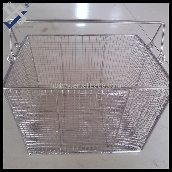 stainless steel hand held sundry storage basket made in China