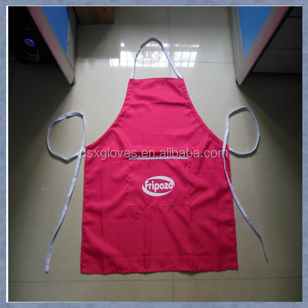 Custom Adjustable Audlt Bib Apron Pink printed garden aprons cupcake aprons with logo
